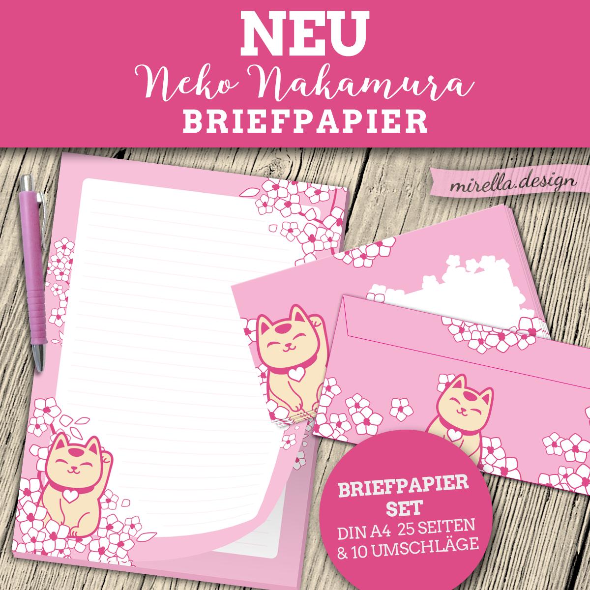 Neko Nakamura Briefpapier