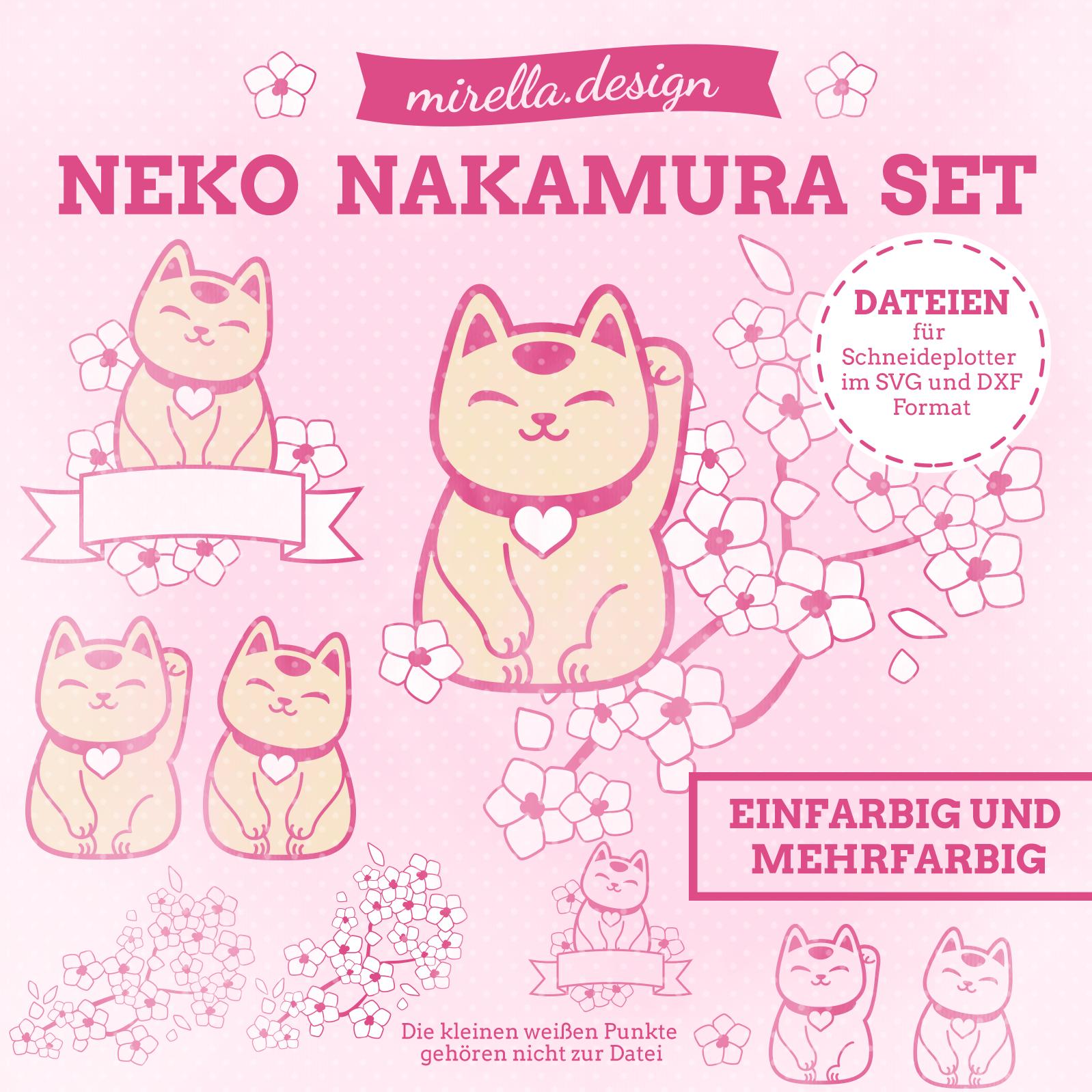 Plotterdateien Neko Nakamura Set