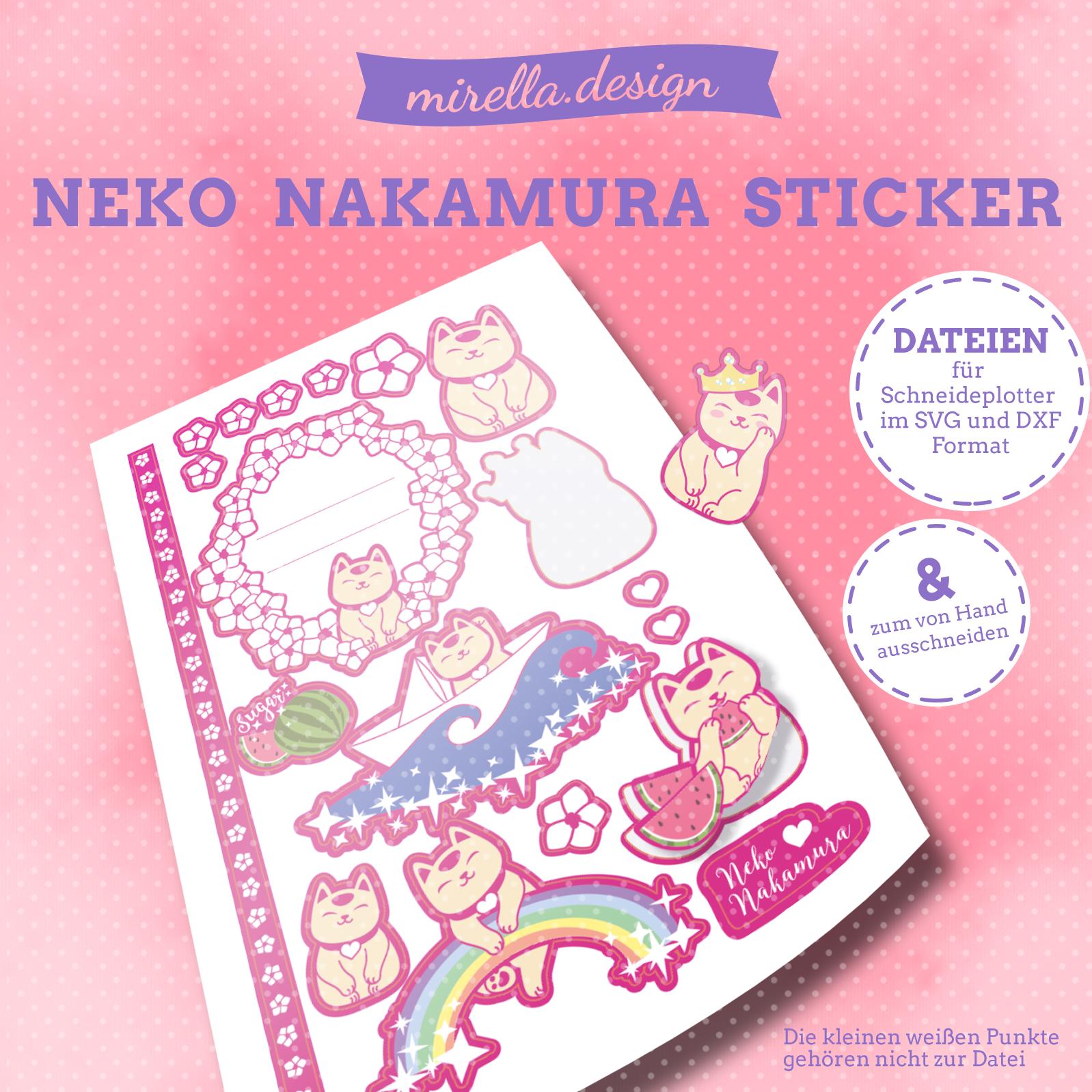 Neko Nakamura Aufkleber Plotter